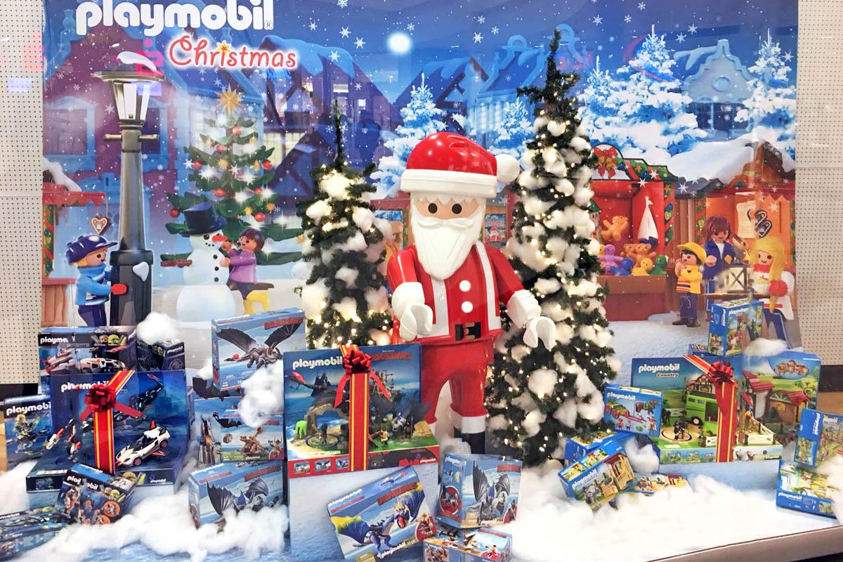 Bezaubernd Schaufensterdekoration Beispiele Sammlung Von Playmobil Weihnachts-schaufenster 2017